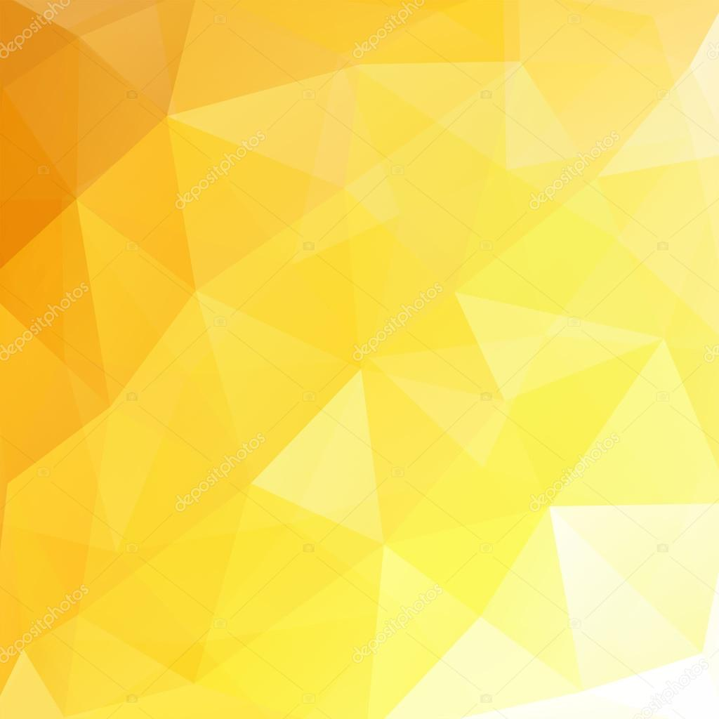 Abstract Polygonal Vector Background. Yellow, White
