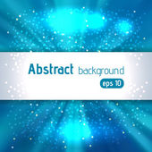 Beautiful rays of light. Shiny eps 10 background. Blue color. Radial radiant effect. Vector illustration