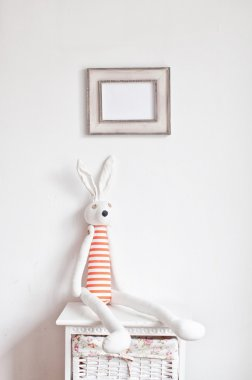Bunny on the bedside table
