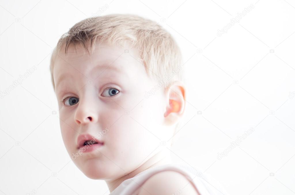 Surprised little boy