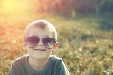 Child in sunglasses