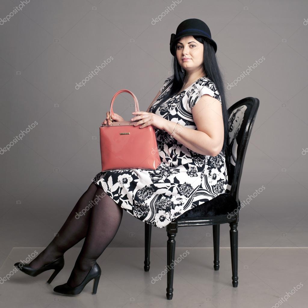 Korpulente Frau