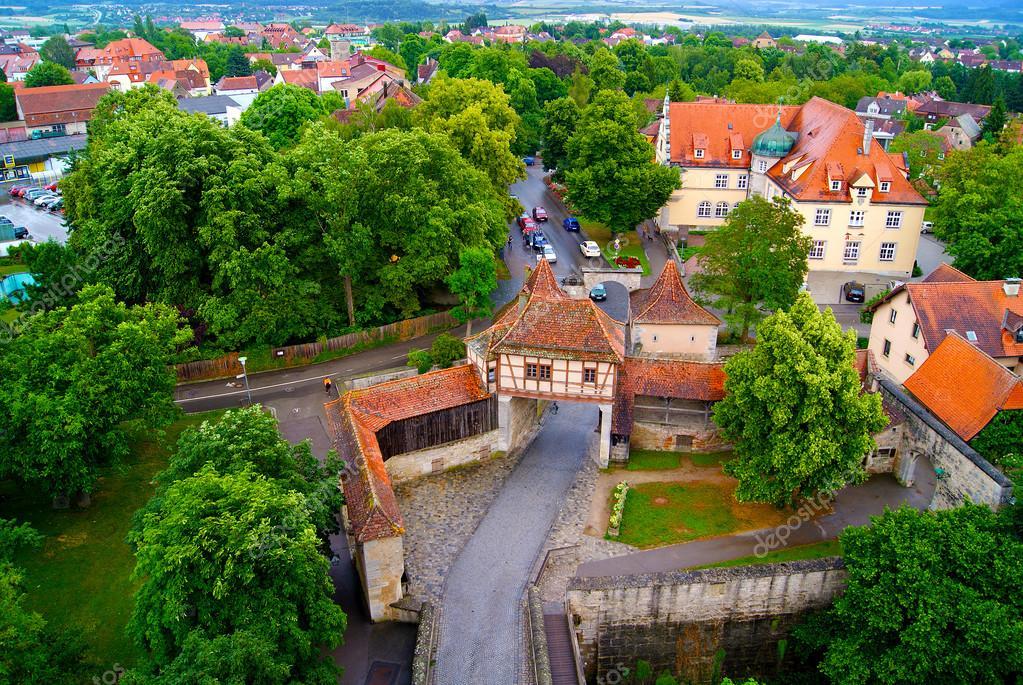 Rotenburg wümme op tauber duitsland beieren oude stad rode