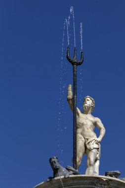 Fountain of Neptune in Naples, Italy