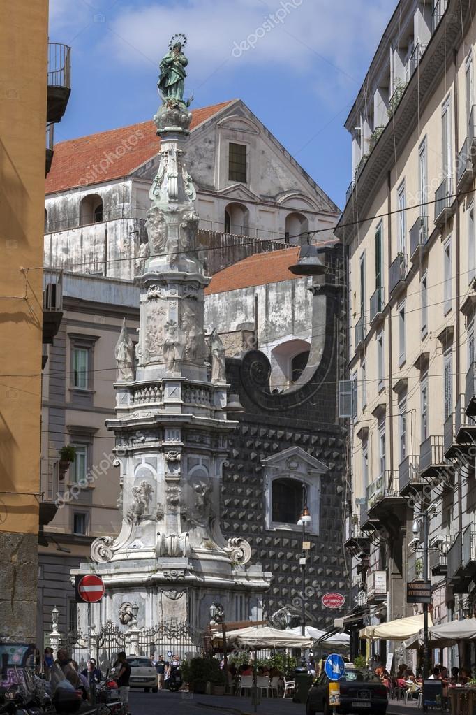 Guglia Dell Immacolata In Naples Italy Stock Editorial Photo