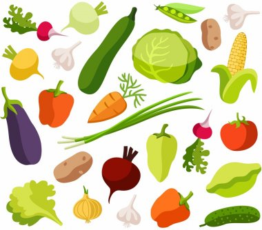 Background vegetables, white, color, seamless.