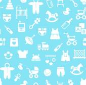 Products for children, background, seamless, blue.
