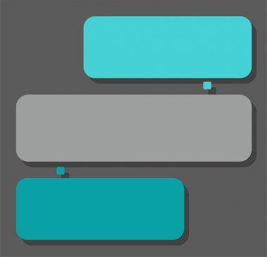 Scheme, color, two sectors for text, infographics.