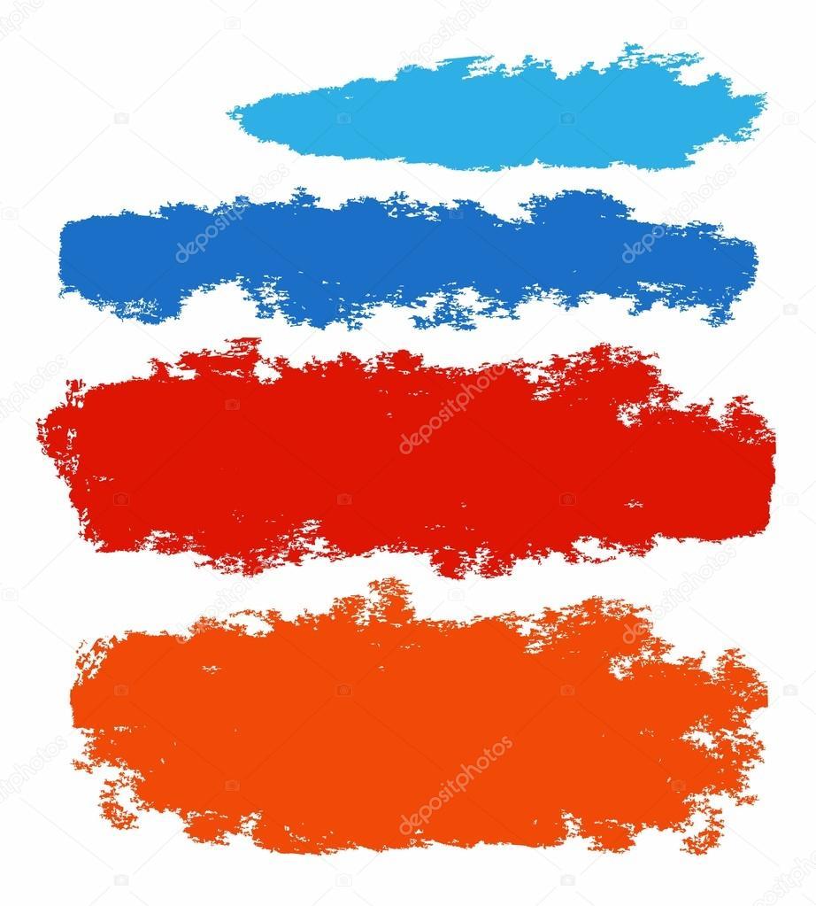 Marco, bandera, andrajoso bordes, coloreados, plano, nube, mancha ...