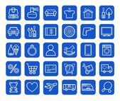 Photo Buy, online shop, categories, goods, icons, linear, white.