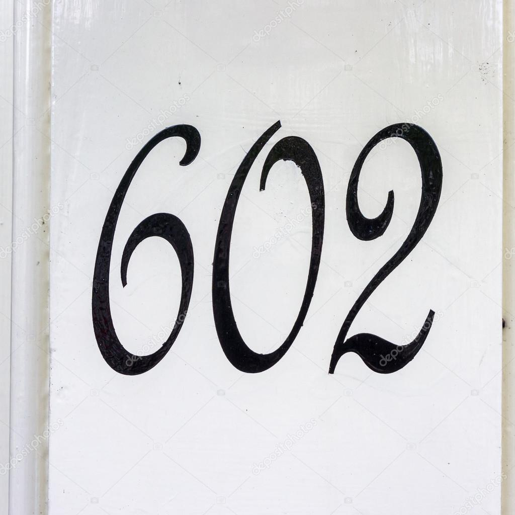 House number 602 — Stock Photo #118981970