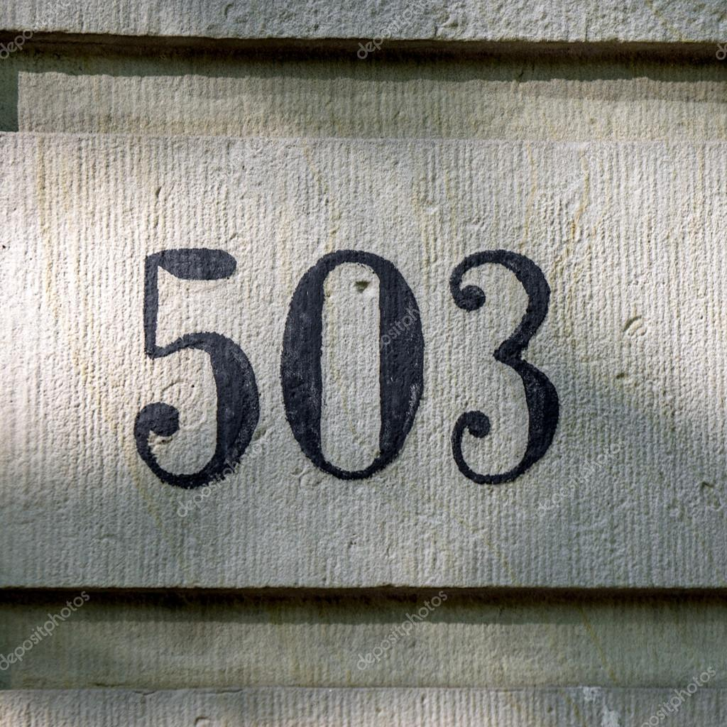 House number 503 — Stock Photo