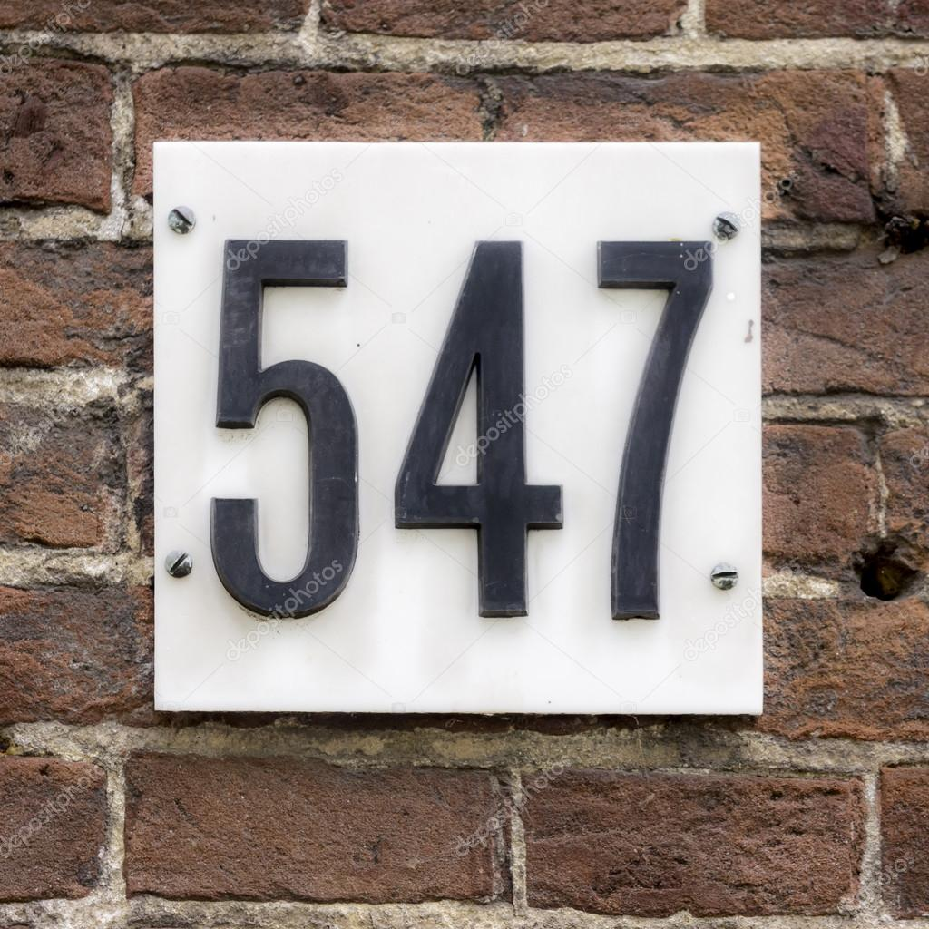 House number 547 — Stock Photo