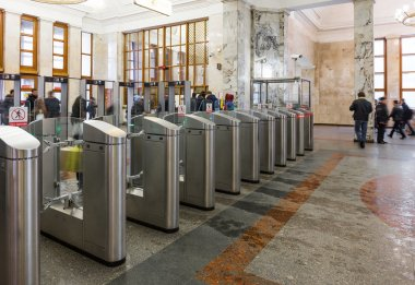 Turnstiles in Moscow