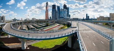Road interchange near the Moscow-city