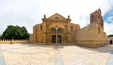 Panorama of Cathedral of Santa Maria la Menor in the Colonial Zone of Santo Domingo, Dominican Republic