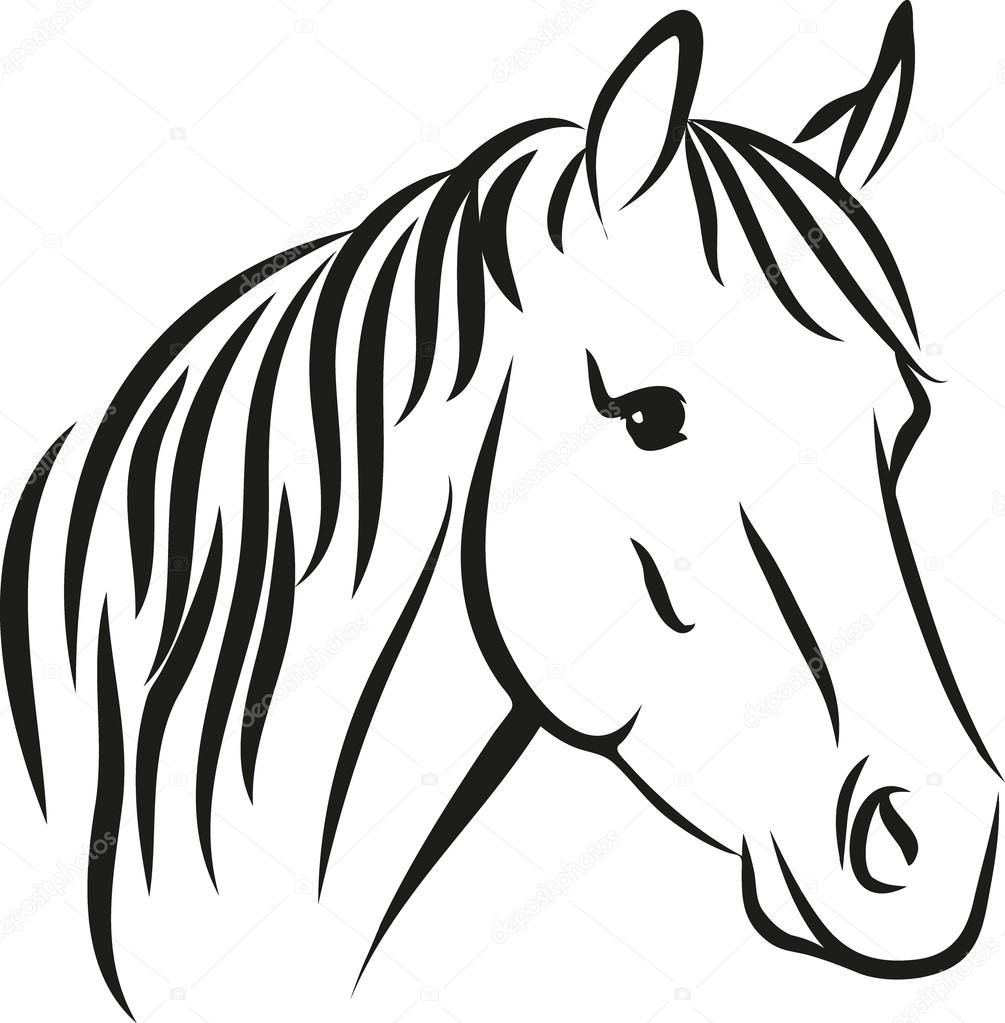 Horse with long mane