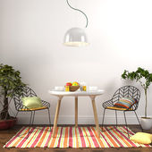 Photo Colorful dining room interior