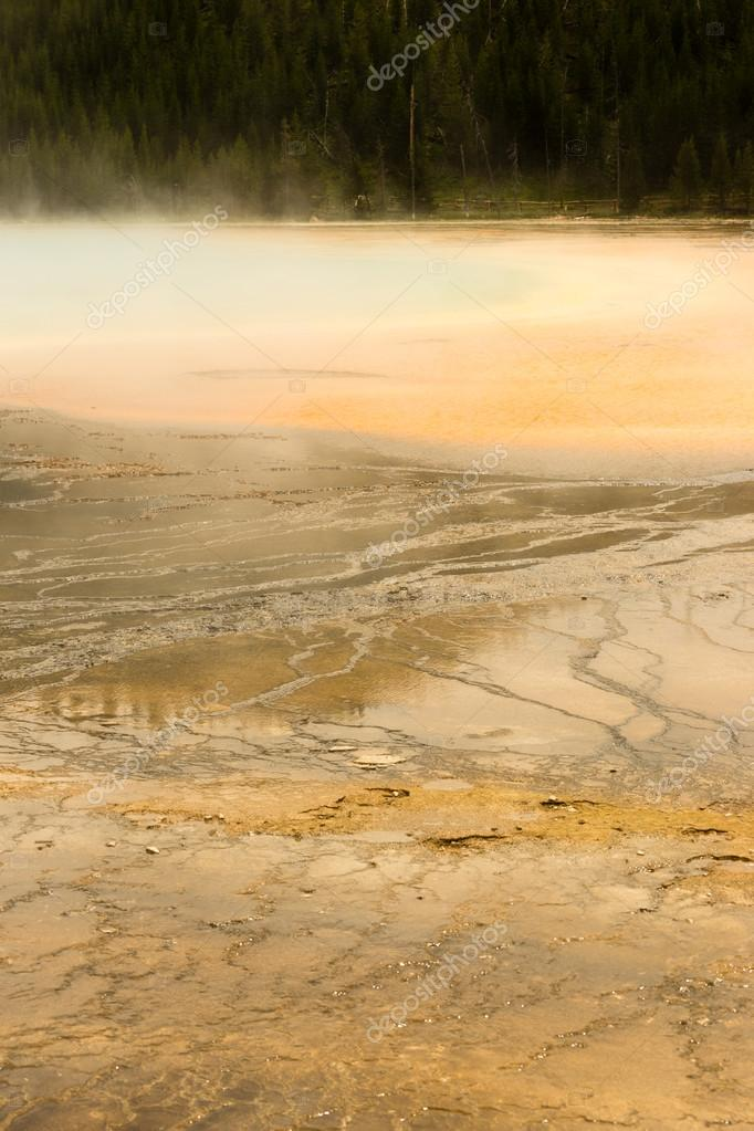 Mineral Water Grand Prismatic Spring Midway Geyser Basin Yellows