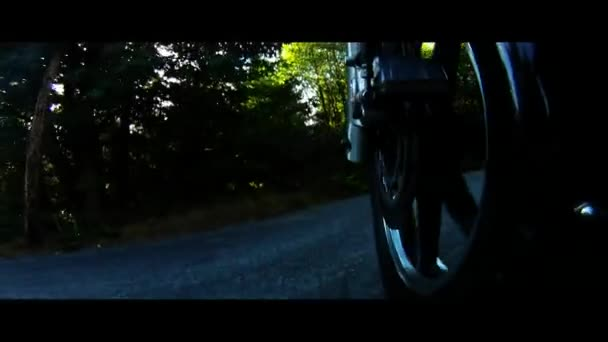 Velké V-Twin motocyklů Ride Road úrovni přední kolo zobrazení venkova dálnice