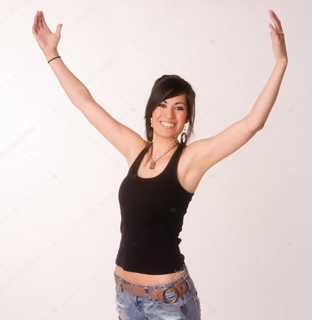woman-reaching-up-to-camera-tits-korean-kristi