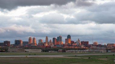 Kansas City Missourri Clay County Downtown City Skyline Sunrise