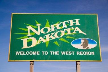 Welcom to North Dakota Highway Sign Bullet Holes