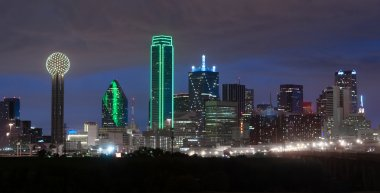 Trinity River Dallas Texas Downtown City Skyline Night Sunset
