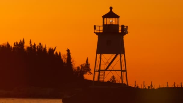 Morgen Licht Hafen Grand Marais Leuchtturm Lake Superior Minnesota USA