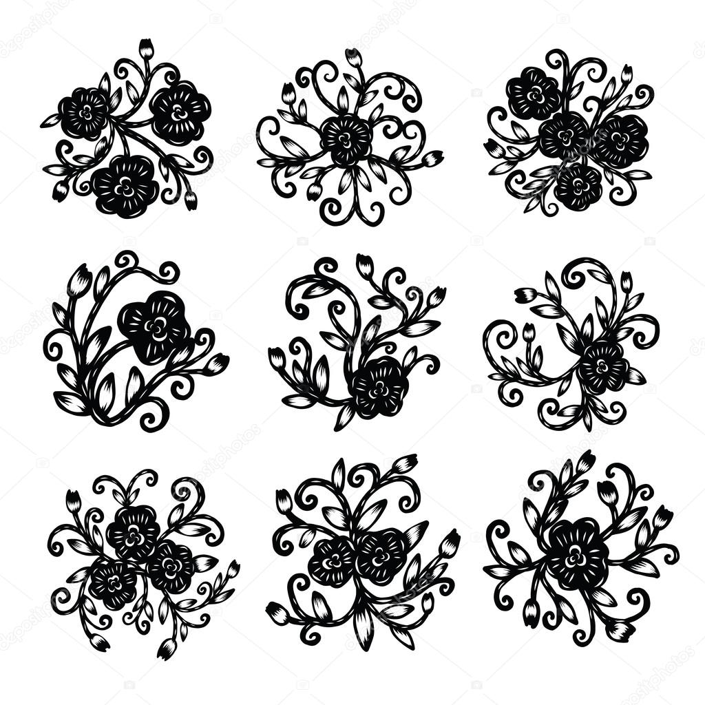 Chinese paper cutting flower paper cutting isolated illustration chinese paper cutting flower paper cutting isolated illustration stock vector mightylinksfo