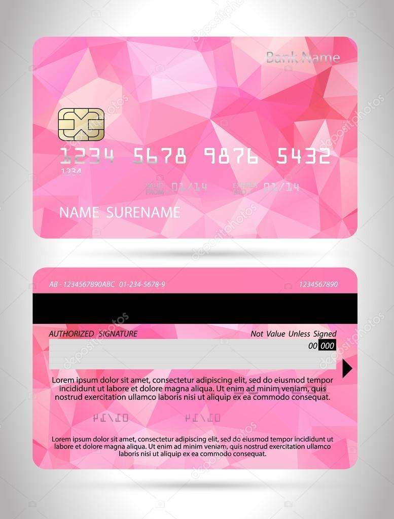 Plantillas de diseño de tarjetas de crédito — Archivo Imágenes ...