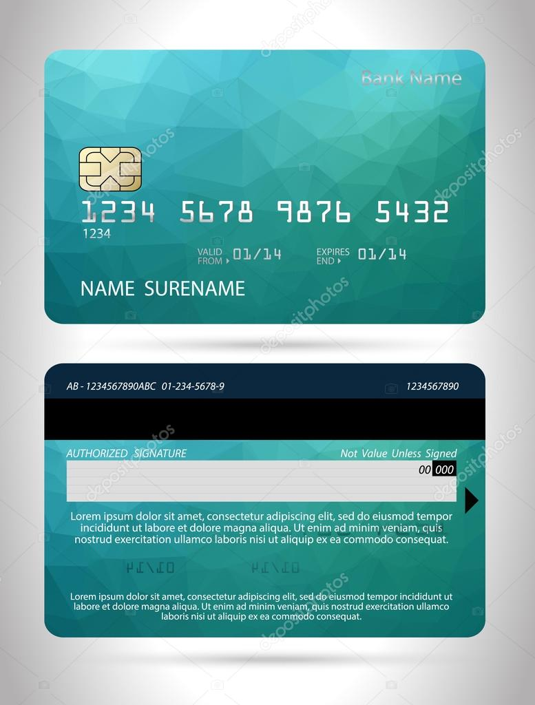 von Kreditkarten-design — Stockvektor #55381467