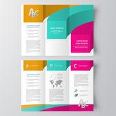 barevné 3d čtverečky brožura návrhu šablony složky leták bílé