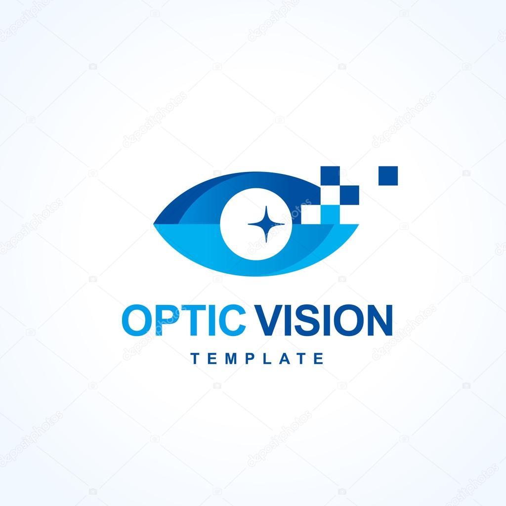 Optic Vision Logo Design Symbol Emblem Silhouette Eye Symbol
