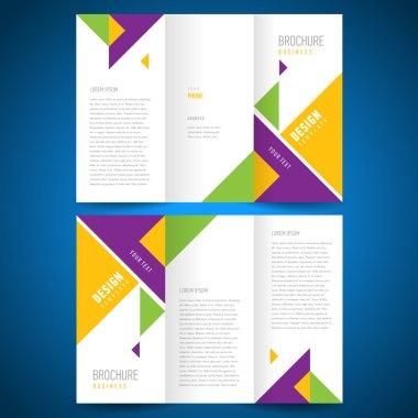 brochure design template triangles elements