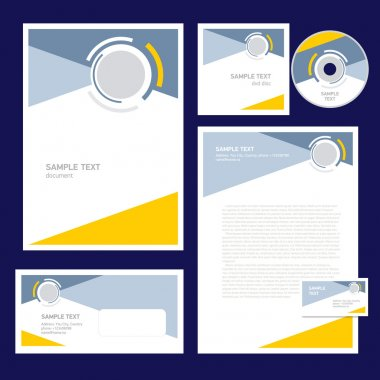 corporate identity template design geometric abstract figure cir