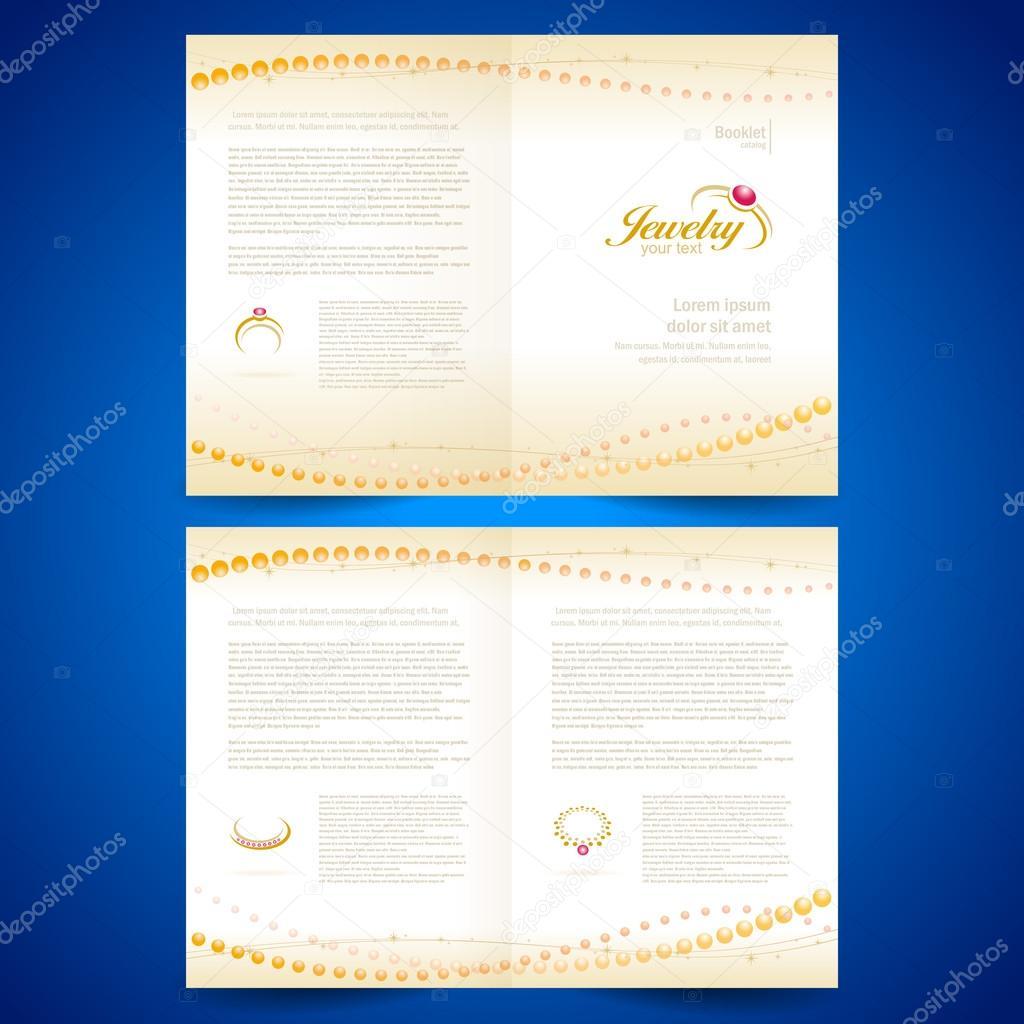 f8b2eb12375b Folleto Catálogo catálogo carpeta joyas bijouterie anillos oro je — Vector  de stock