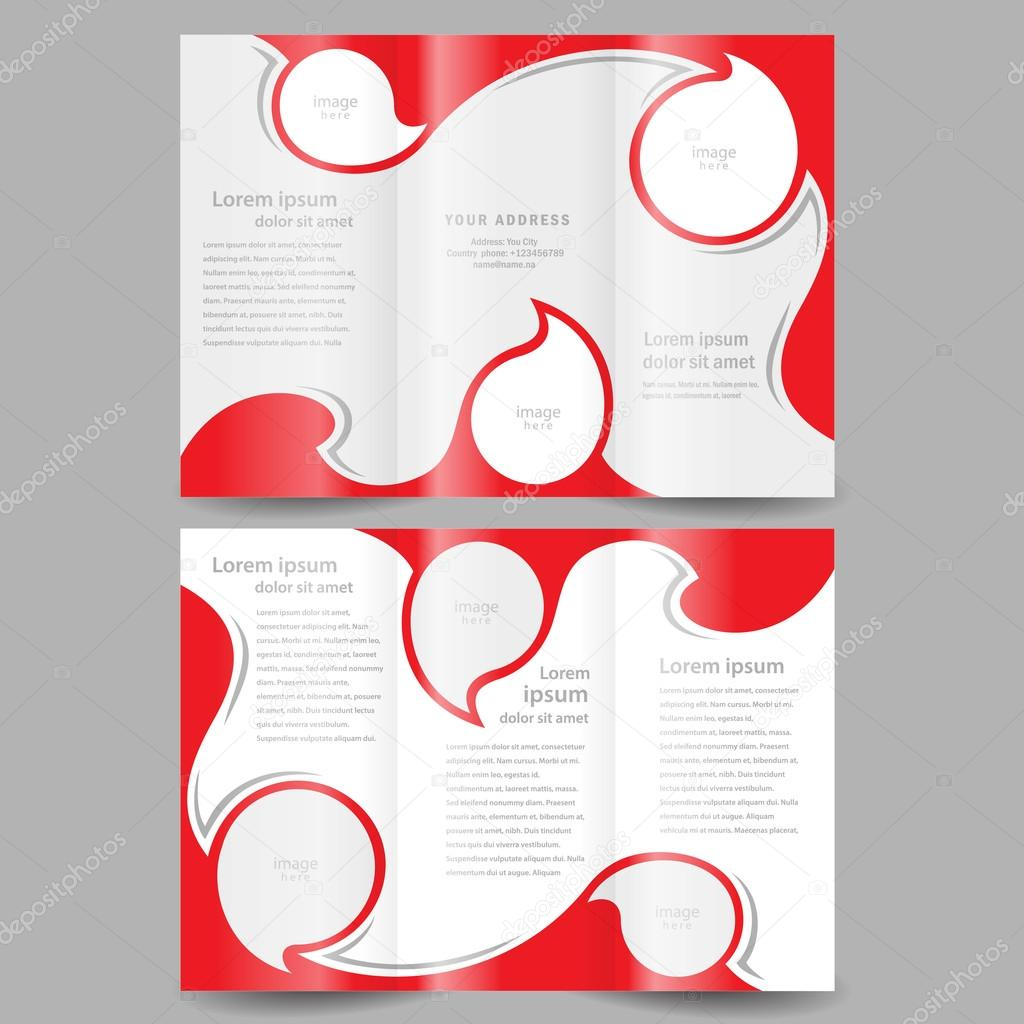 plantilla de diseño de folleto twist color blanco rojo, marco para ...