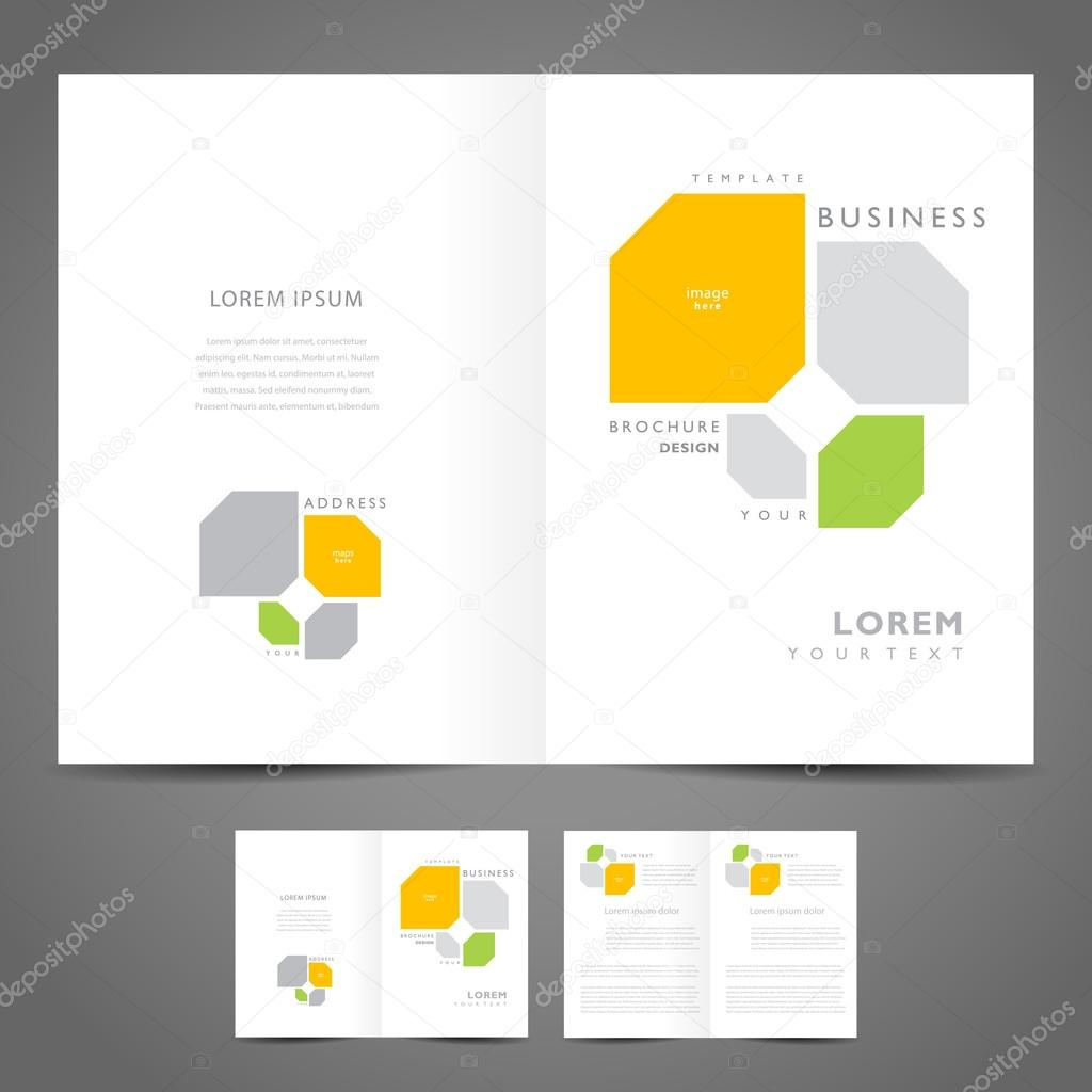 Brochure design booklet template vector geometric abstract figur – Booklet Template