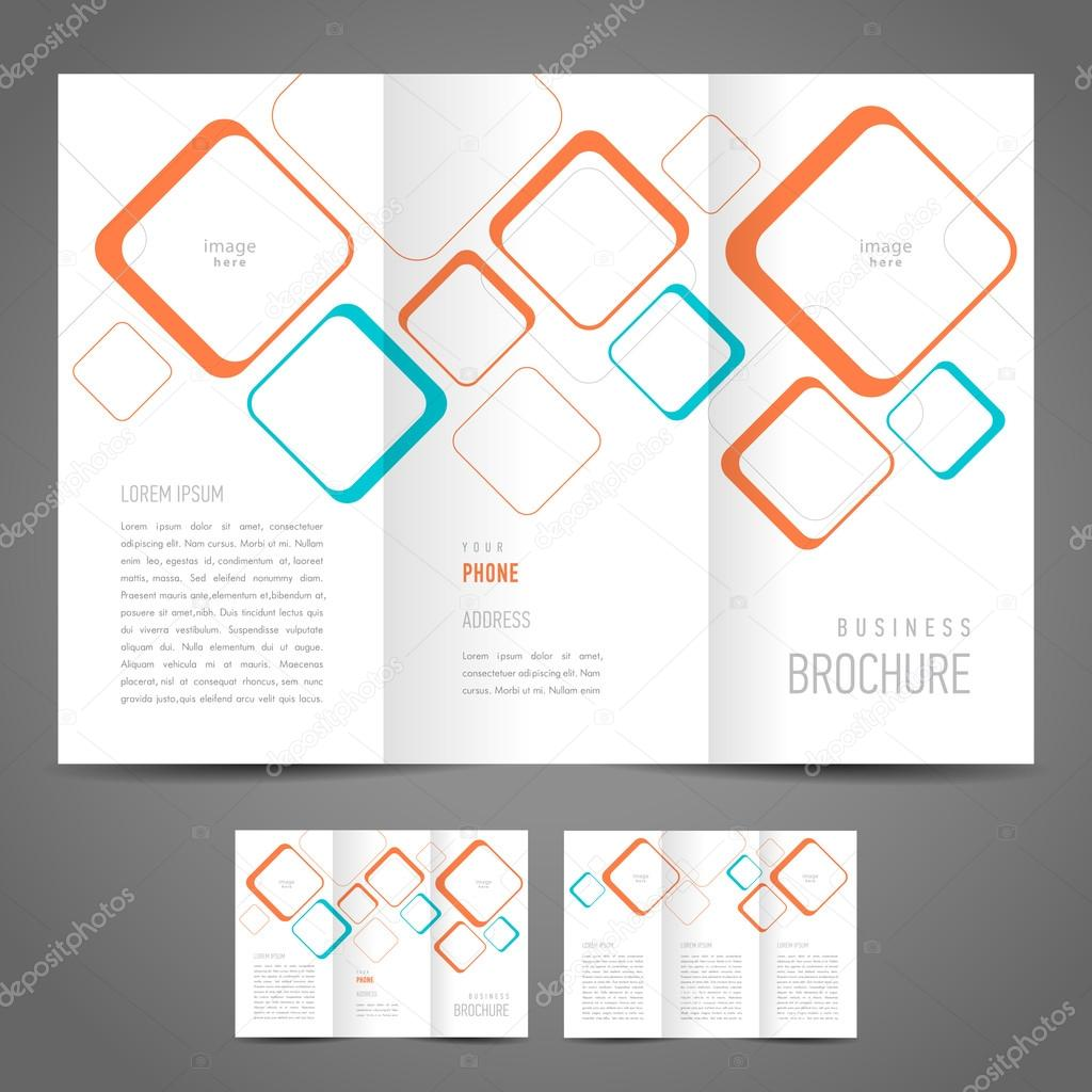 Broschüre Design Vorlage Quadrate — Stockvektor © photoyou #74223669
