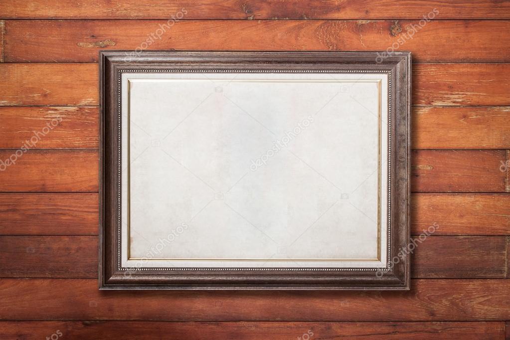 textura de madera de pared con marco de madera — Fotos de Stock ...
