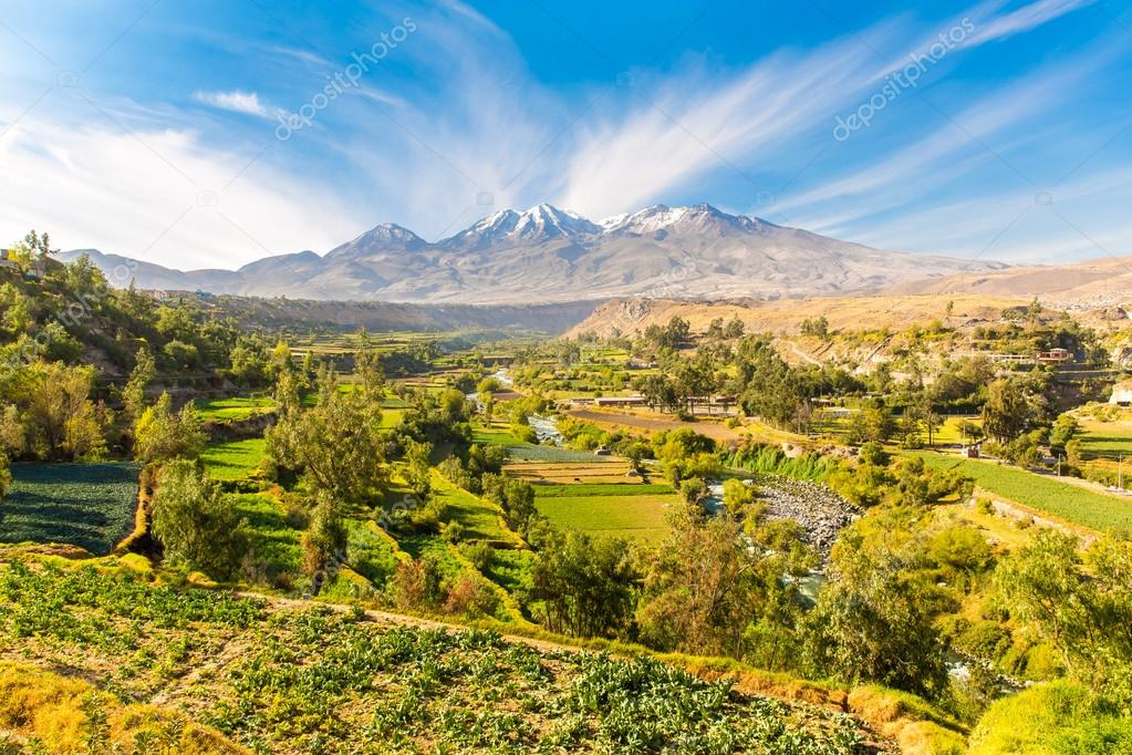 Misty Volcano in Arequipa