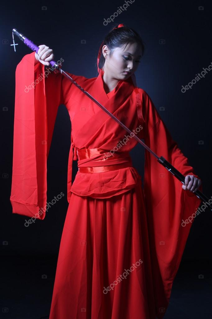 Costume de guerrier asiatique