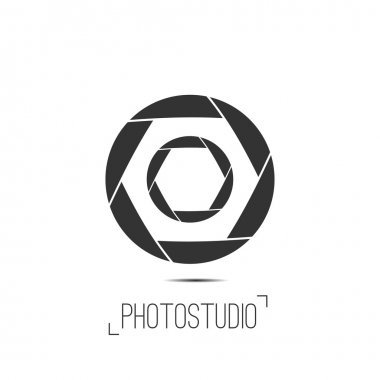 Photo studio logo and business card template.