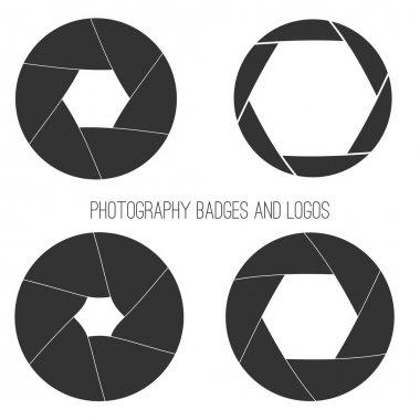 """Картина, постер, плакат, фотообои """"Векторная коллекция фотографии логотип шаблонов. Логотипы Photocam. Старинные фотографии значки и иконки. Фото наклейки."""", артикул 69206879"""