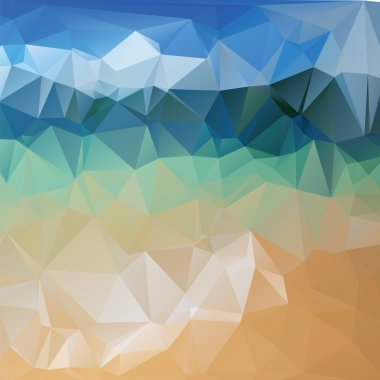 Triangle background, mountains, vector polygon art, soft colored abstract illustration. Web mobile interface template.