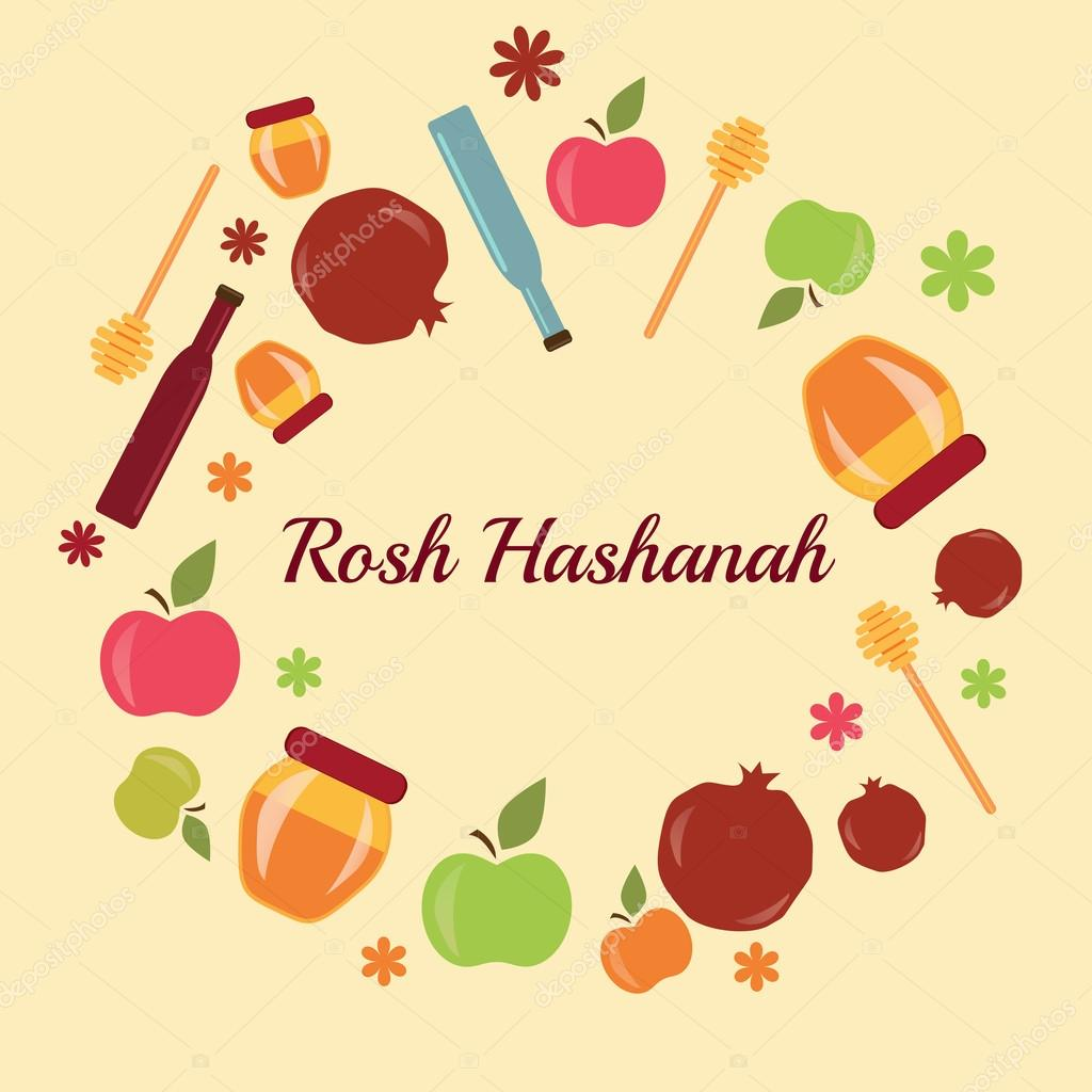 Greeting card design for jewish new year rosh hashanah stock greeting card design for jewish new year rosh hashanah stock vector m4hsunfo