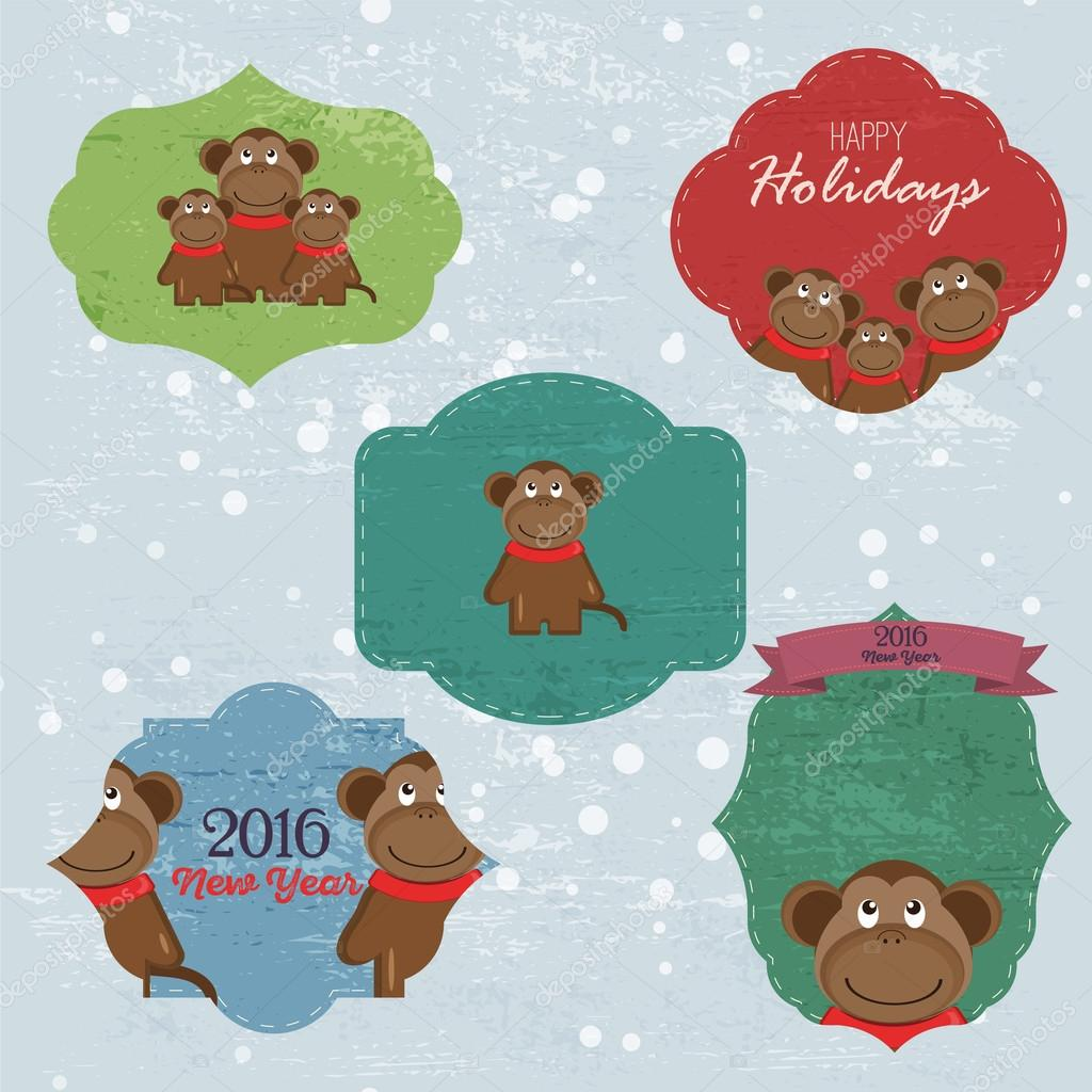 Christmas set with notes stickers labels with winter and christmas christmas set with notes stickers labels with winter and christmas illustrations and wishes m4hsunfo