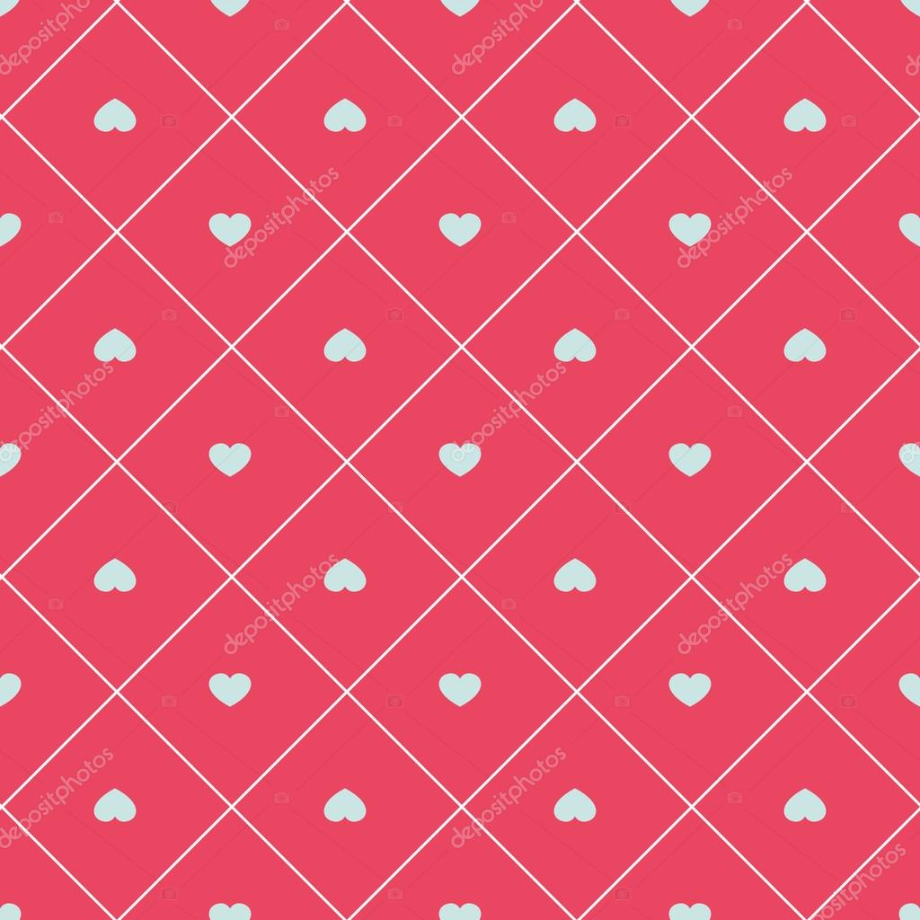 cute retro abstract heart seamless pattern can be used for