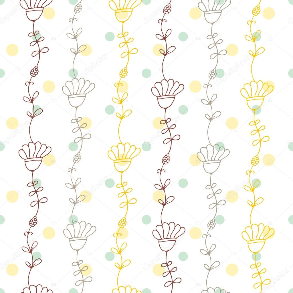 seamless vector floral pattern spring summer backdrop hand drawn